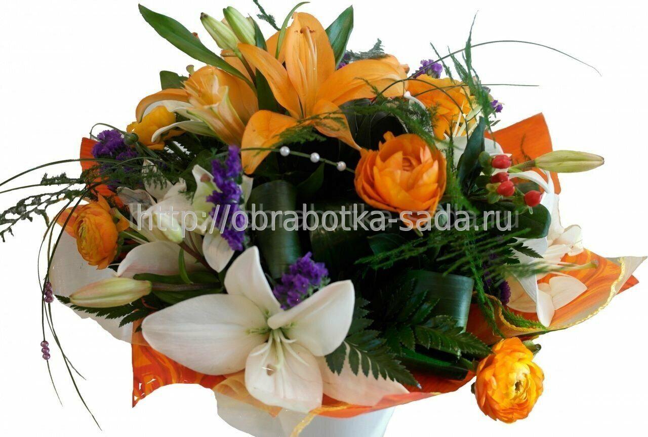 Красивые букеты цветов с лилиями